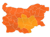Bulgaria Holidays Central Regions Outline